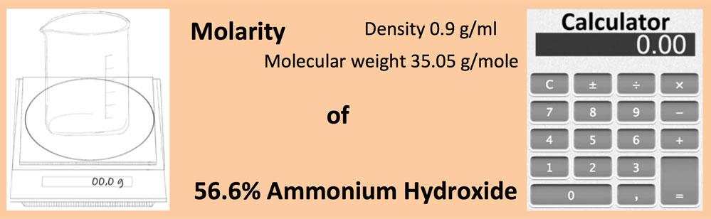 Molarity of 56.6% Ammonium Hydroxide