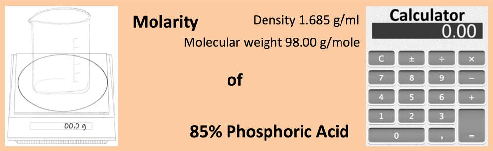 Molarity of 85% Phosphoric Acid
