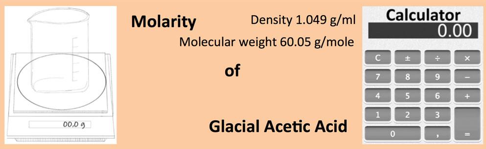 Molarity of Glacial Acetic Acid